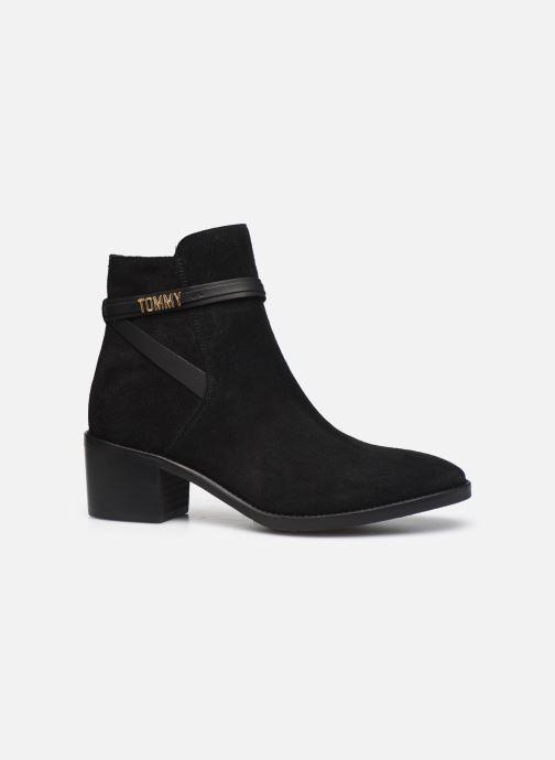 Boots en enkellaarsjes Tommy Hilfiger BLOCK BRANDING SUEDE MID BOOT Zwart achterkant