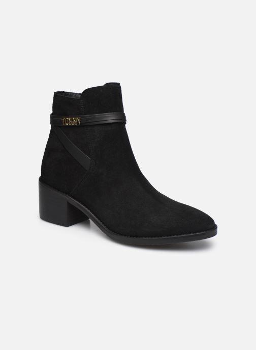Boots en enkellaarsjes Tommy Hilfiger BLOCK BRANDING SUEDE MID BOOT Zwart detail