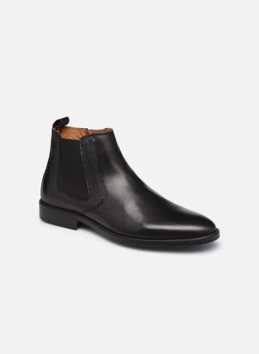 Bottines et boots Tommy Hilfiger ESSENTIAL LEATHER CHELSEA Noir vue détail/paire