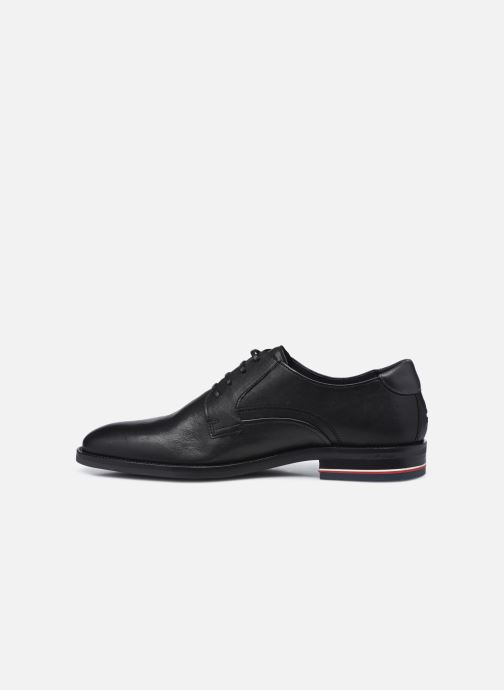 Zapatos con cordones Tommy Hilfiger SIGNATURE HILFIGER LEATHER SHOE Negro vista de frente