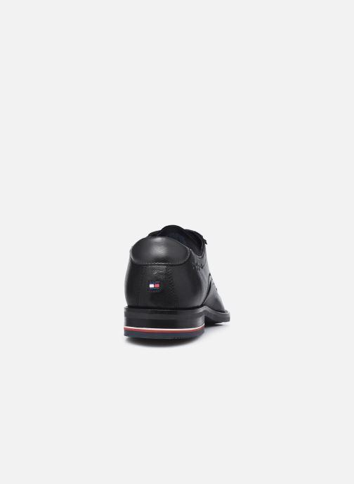 Zapatos con cordones Tommy Hilfiger SIGNATURE HILFIGER LEATHER SHOE Negro vista lateral derecha
