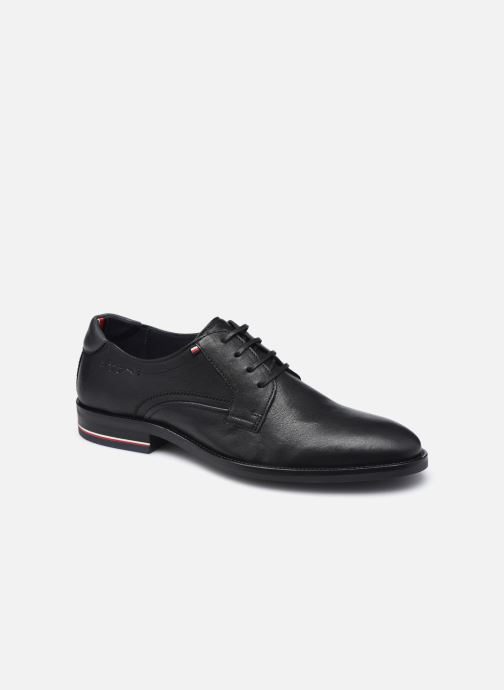 Zapatos con cordones Tommy Hilfiger SIGNATURE HILFIGER LEATHER SHOE Negro vista de detalle / par