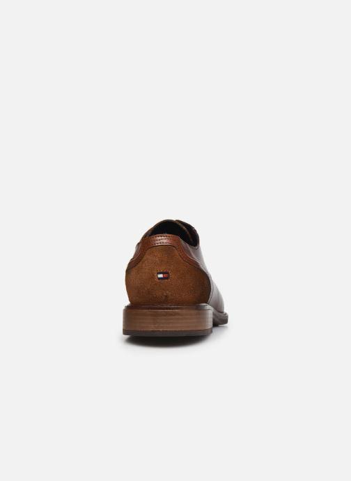 Zapatos con cordones Tommy Hilfiger ELEVATED LEATHER MIX SHOE Marrón vista lateral derecha