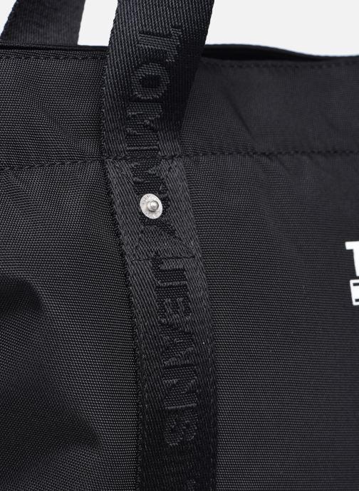 Bolsos de mano Tommy Hilfiger TJW TOTE 100% RECYCLED Negro vista lateral izquierda