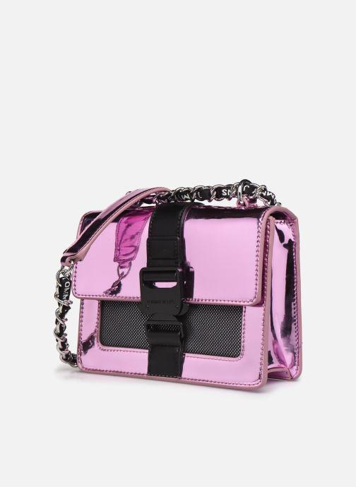 Bolsos de mano Tommy Hilfiger TJW ITEM CROSSOVER METALLIC Rosa vista del modelo