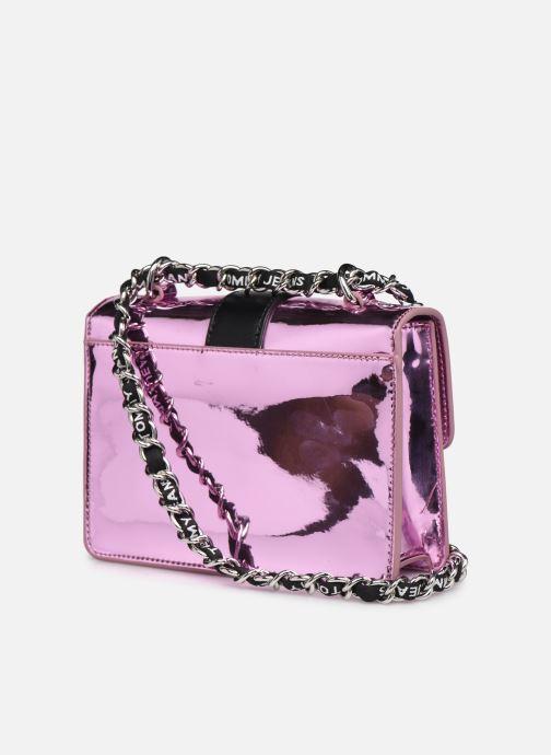 Handtaschen Tommy Hilfiger TJW ITEM CROSSOVER METALLIC rosa ansicht von rechts