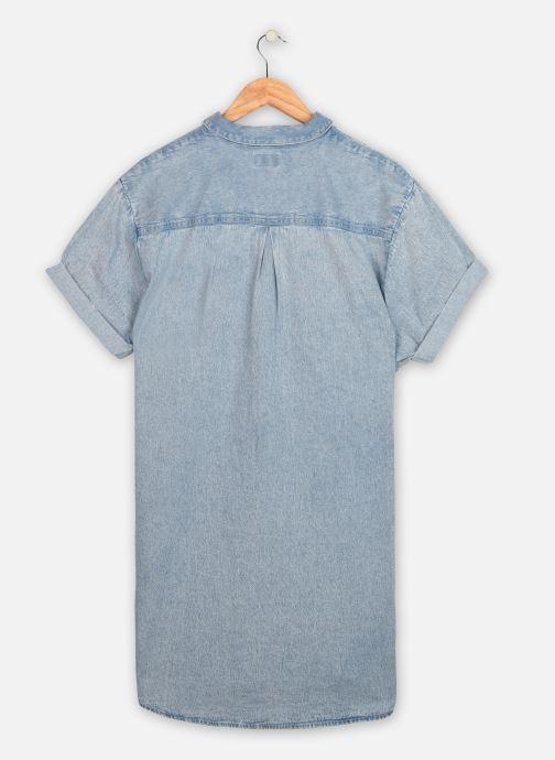 Vêtements Wrangler Summer Denim Dress Bleu vue portées chaussures
