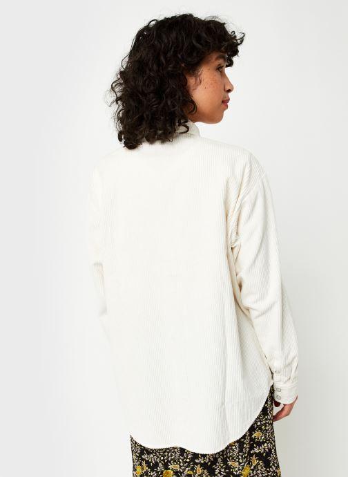 Vêtements Wrangler Chemise Blanc vue portées chaussures