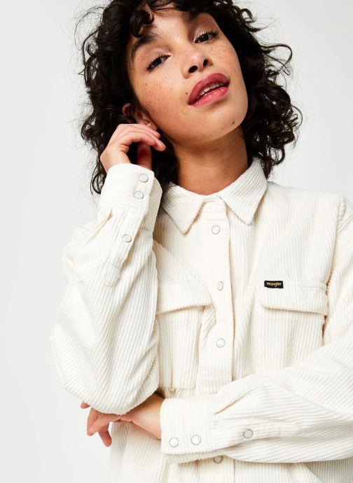 Vêtements Wrangler Chemise Blanc vue face