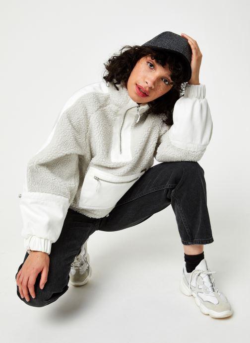 Vêtements Wrangler Denim Sherpa Jacquet Gris vue bas / vue portée sac
