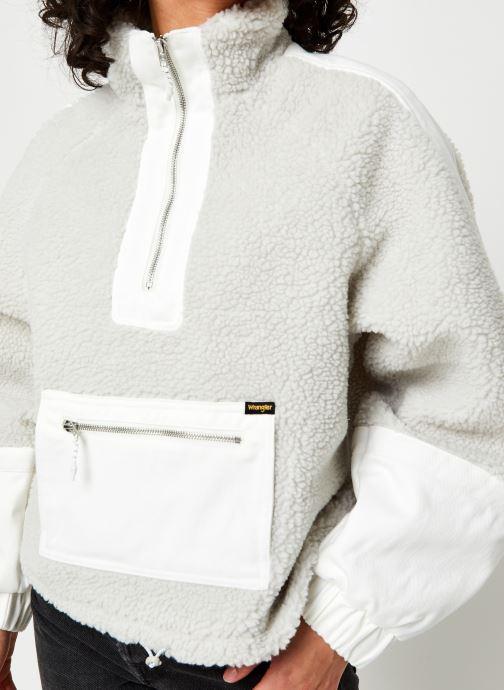 Vêtements Wrangler Denim Sherpa Jacquet Gris vue face