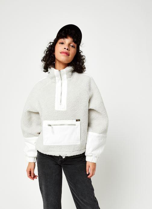 Vêtements Wrangler Denim Sherpa Jacquet Gris vue droite
