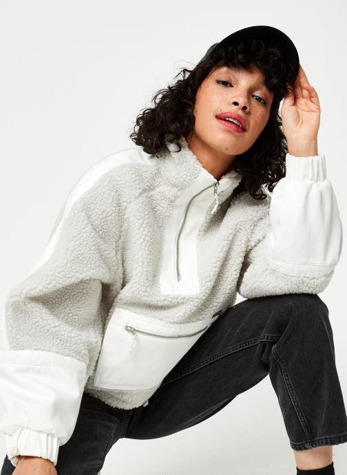 Vêtements Wrangler Denim Sherpa Jacquet Gris vue détail/paire