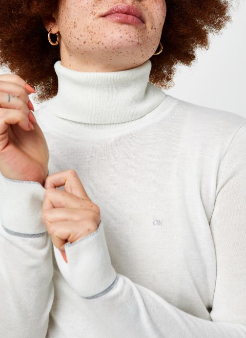Vêtements Calvin Klein Roll Neck Sweater Blanc vue face