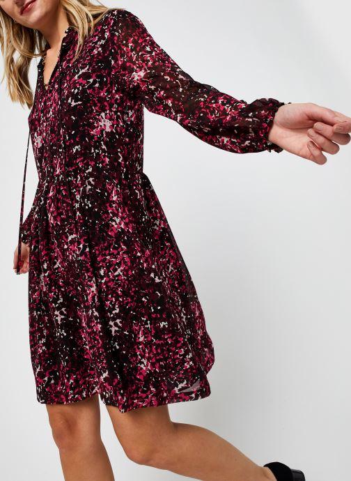Vêtements Calvin Klein Chiffon Ls Tie Nk Skater Dress Rose vue détail/paire