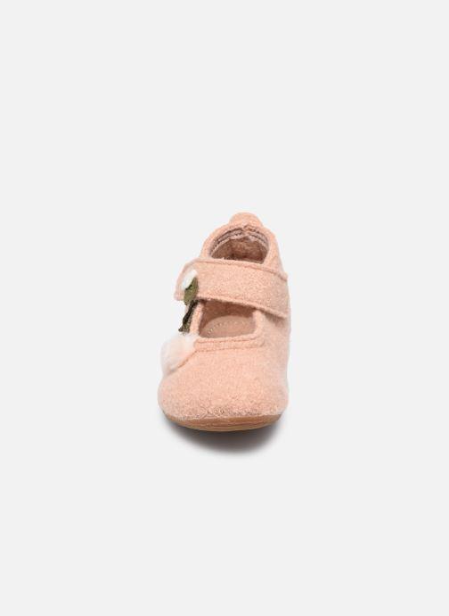 Chaussons Living Kitzbühel 3804 Beige vue portées chaussures