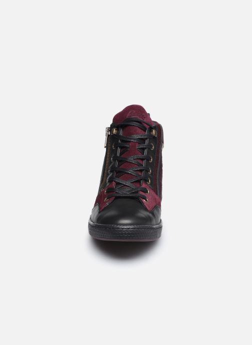 Baskets Pataugas JULIA/PO F4F Bordeaux vue portées chaussures