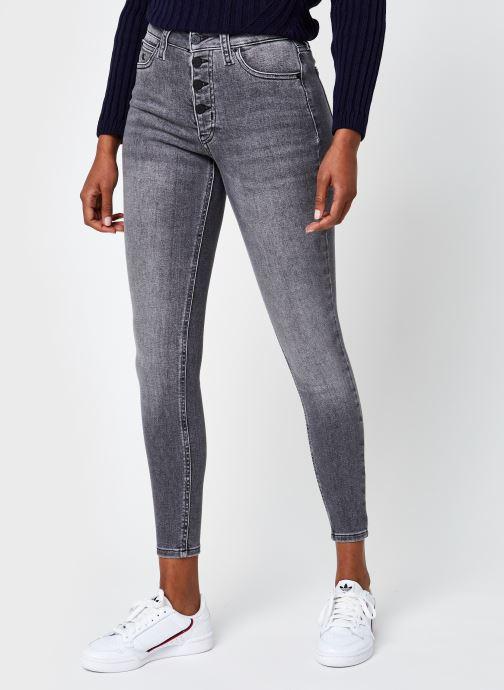 Vêtements Calvin Klein Jeans High Rise Super Skinny Ankle Gris vue détail/paire