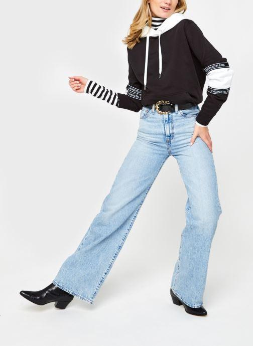 Vêtements Calvin Klein Jeans Stripes Ls Roll Neck Noir vue bas / vue portée sac