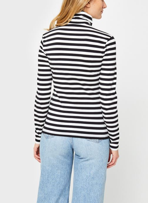 Vêtements Calvin Klein Jeans Stripes Ls Roll Neck Noir vue portées chaussures