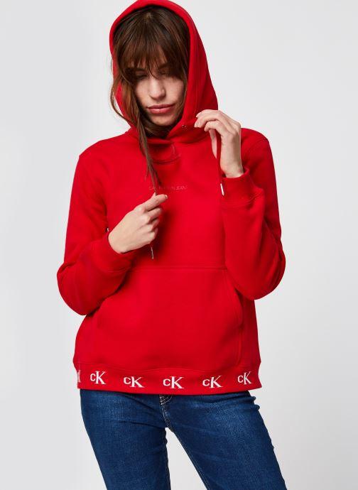 Sweatshirt hoodie - Ck Logo Trim Hoodie