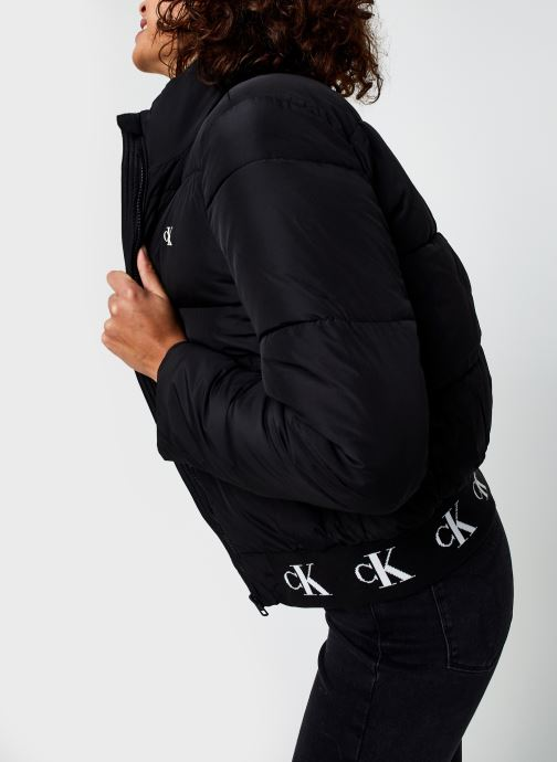 Repeated Ck Hem Logo Puffer