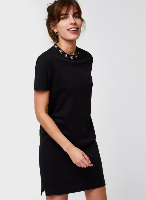 Ck Logo Trim T-Shirt Dress