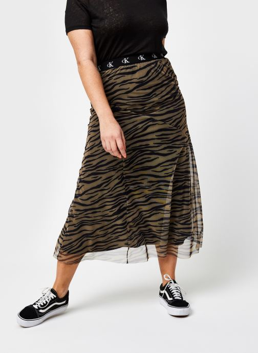 Jupe midi - Zebra Skirt With Logo Elastic