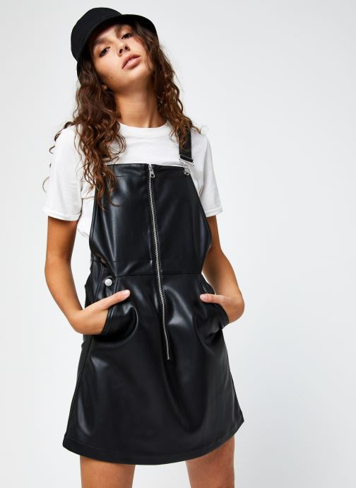 Faux Leather Dungaree