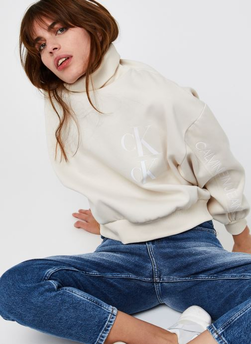 Oversized Sweatshirt W Roll Neck