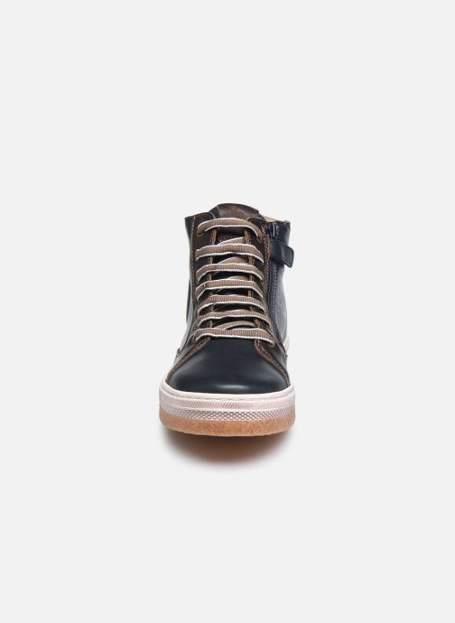 Baskets Bisgaard Georg Bleu vue portées chaussures