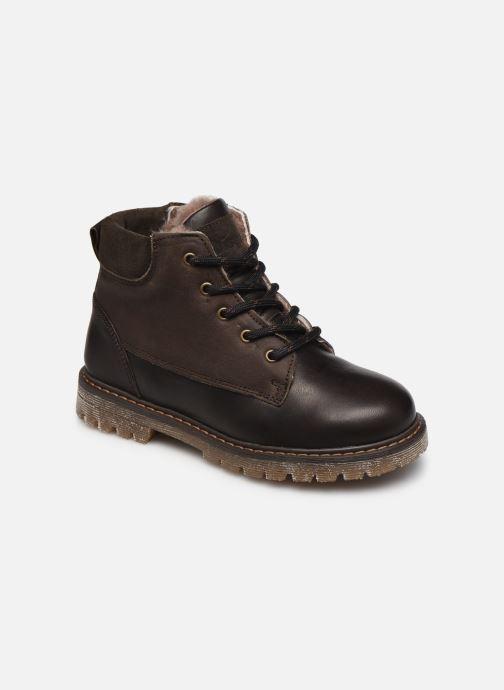 Zapatos con cordones Bisgaard Hector Marrón vista de detalle / par