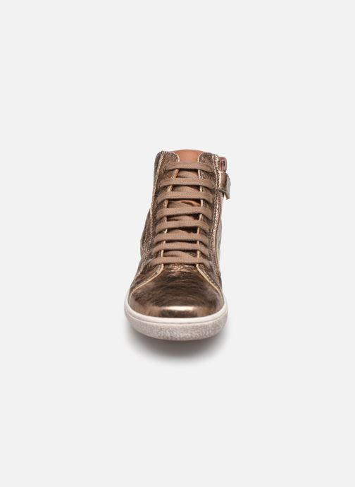 Baskets Bisgaard Gaia Or et bronze vue portées chaussures