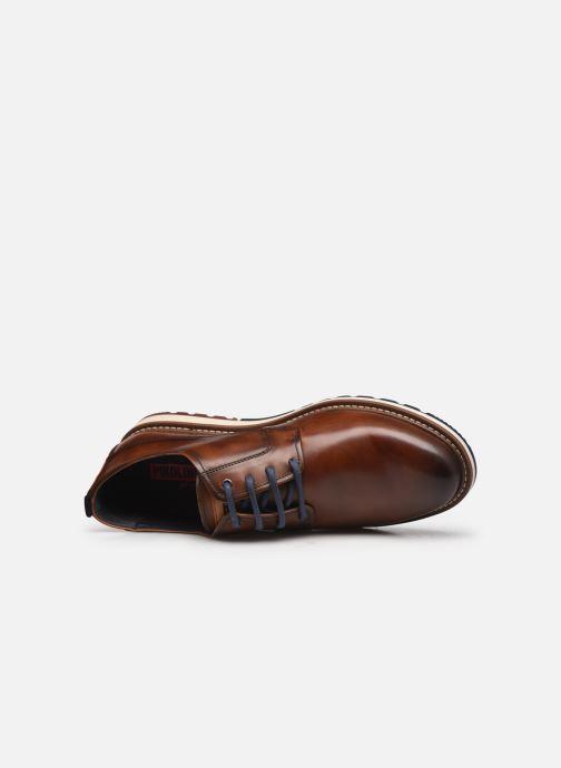 Zapatos con cordones Pikolinos BERNA M8J-4314 Marrón vista lateral izquierda