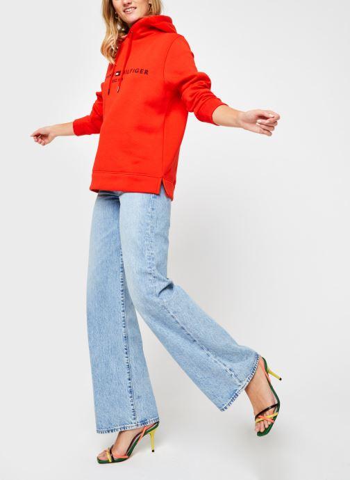 Vêtements Tommy Hilfiger Th Ess Hilfiger Hoodie Orange vue bas / vue portée sac