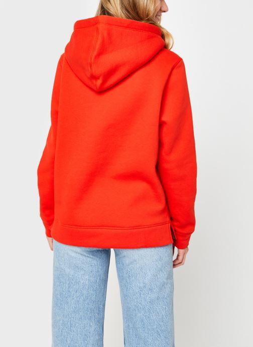 Vêtements Tommy Hilfiger Th Ess Hilfiger Hoodie Orange vue portées chaussures