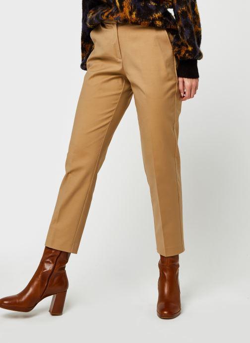Pantalon droit - Slim Slub Cotton ankle pant