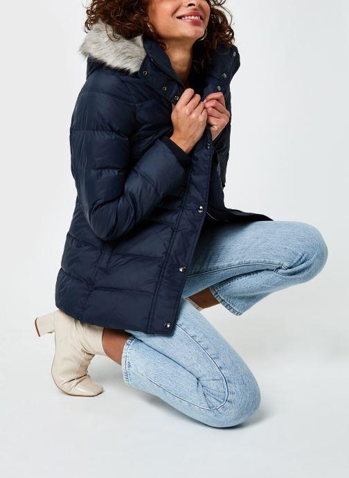 Vêtements Tommy Hilfiger Th Ess Tyra Down Jkt With Fur Bleu vue bas / vue portée sac