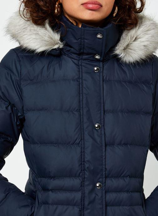 Vêtements Tommy Hilfiger Th Ess Tyra Down Jkt With Fur Bleu vue face