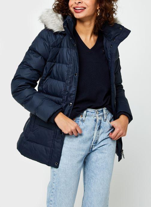 Vêtements Tommy Hilfiger Th Ess Tyra Down Jkt With Fur Bleu vue détail/paire