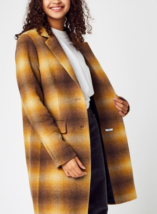 Ropa Accesorios Wool Blend Check Classic Coat