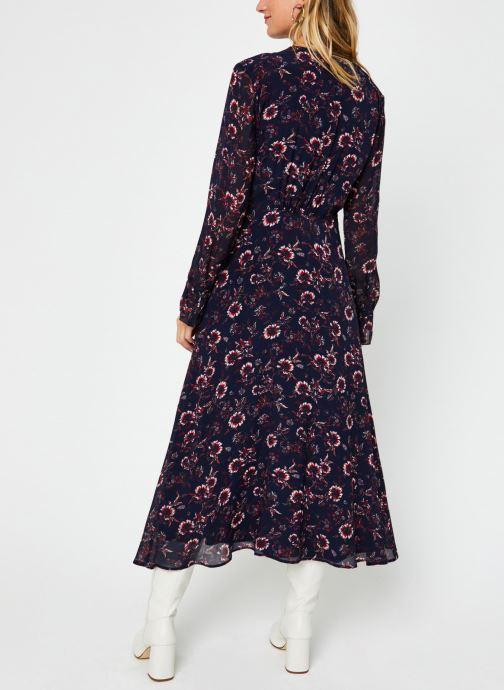 Kleding Tommy Hilfiger Amia Midi Ls Dress Blauw model