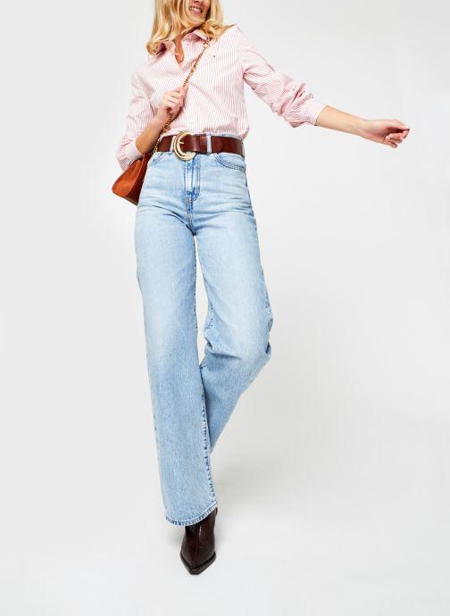Vêtements Tommy Hilfiger Alexis Regular Ls Shirt Rose vue bas / vue portée sac