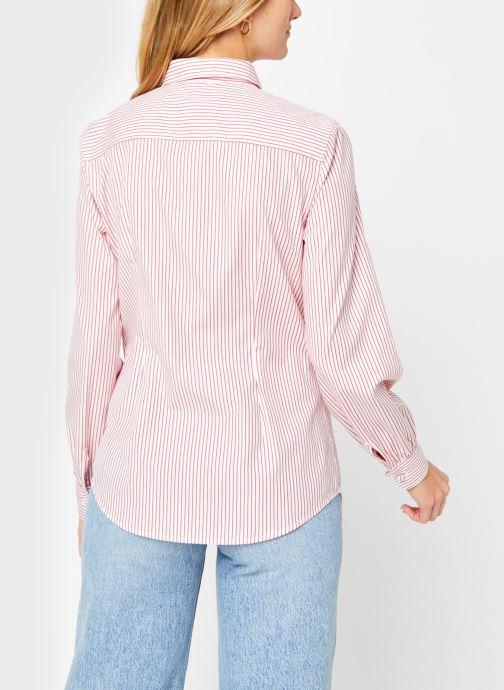 Vêtements Tommy Hilfiger Alexis Regular Ls Shirt Rose vue portées chaussures