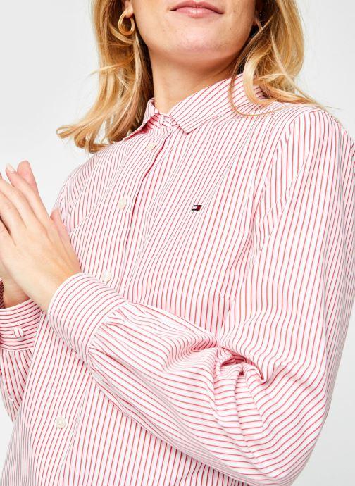 Vêtements Tommy Hilfiger Alexis Regular Ls Shirt Rose vue face