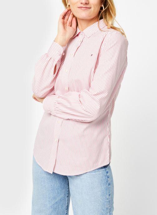 Vêtements Tommy Hilfiger Alexis Regular Ls Shirt Rose vue droite