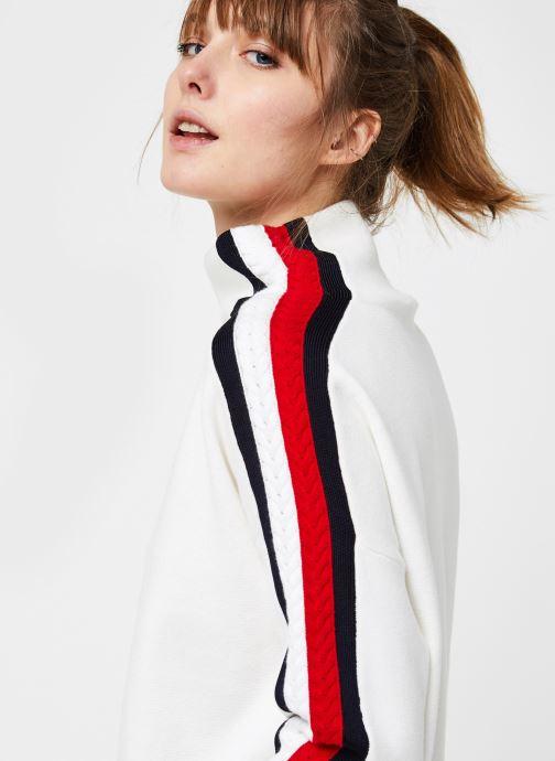 Vêtements Tommy Hilfiger Side Stripe MOCK-NK SWEATER LS Blanc vue face