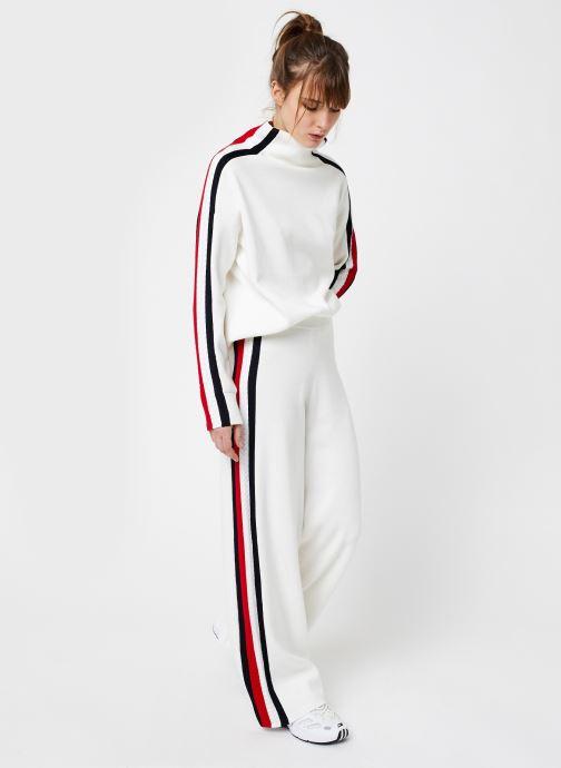Vêtements Tommy Hilfiger Side Stripe Wide Pant Blanc vue bas / vue portée sac