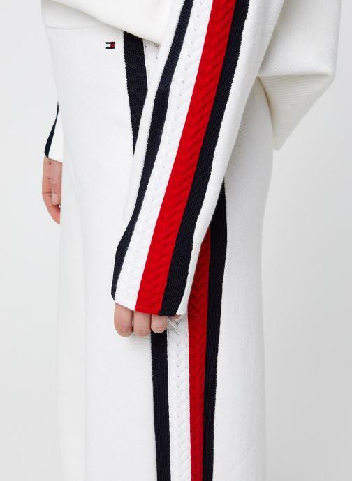 Vêtements Tommy Hilfiger Side Stripe Wide Pant Blanc vue face
