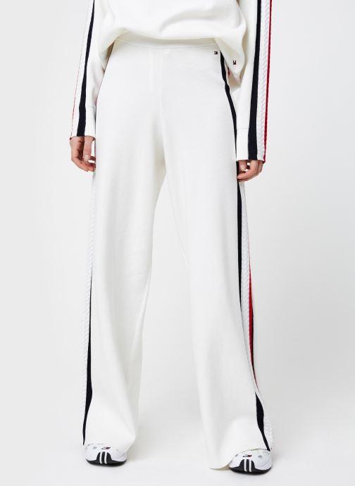 Vêtements Tommy Hilfiger Side Stripe Wide Pant Blanc vue détail/paire